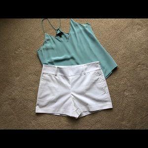 Ann Taylor White Shorts